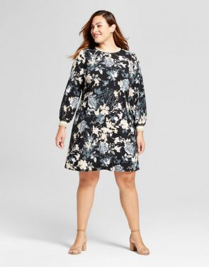 photo Plus Size Floral Print Dress by Chiasso, color Multi - Image 1
