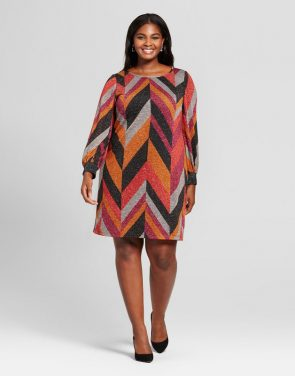 photo Plus Size Chevron Print Dress by Chiasso, color Multi - Image 1