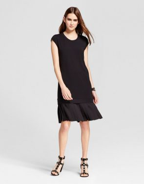 photo Mini Cap Sleeve Layered Shift Dress by Mossimo, color Black - Image 1