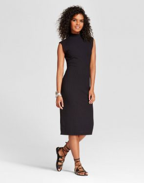 photo Sleeveless Column Dress by Mossimo, color Black - Image 1