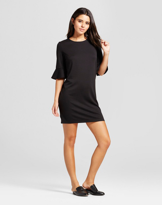 photo Bell Sleeve Shift Dress by Mossimo, color Black - Image 1