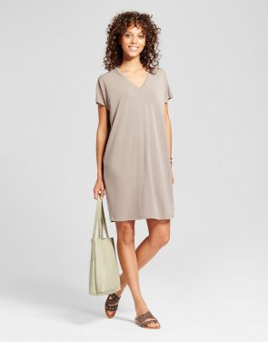 photo Midi T-Shirt Dress by Mossimo, color Brown - Image 1