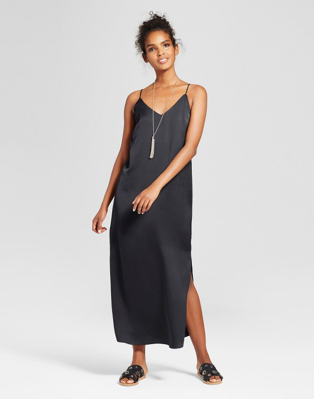 photo Maxi Slip Dress by Mossimo, color Black - Image 1