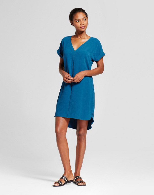 photo Short Sleeve Crepe Dress by A New Day, color Light Blue - Image 1