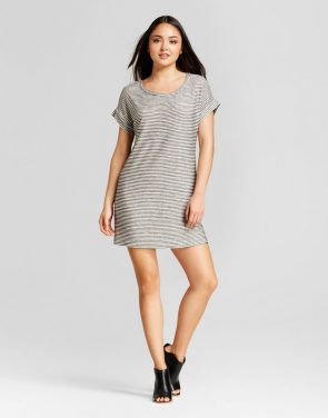 photo Stripe Shift Dress by Vanity Room, color Black/White - Image 1