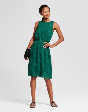photo Burnout Textured Dress by A New Day, color Green - Image 1