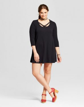 photo Plus Size Short Sleeve T-Shirt Dress by Grayson Threads, color Black - Image 1