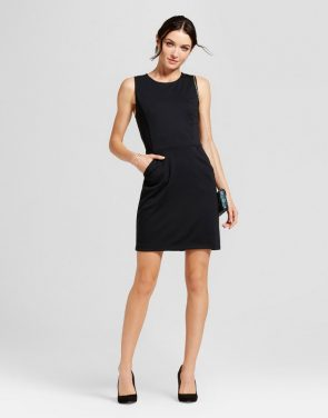 photo Ponte Sheath Dress by A New Day, color Black - Image 1