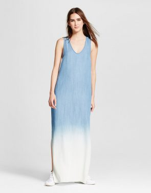 photo Tencel Dip Dye Maxi Dress by S&P by Standards and Practices, color Blue - Image 1