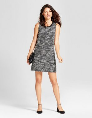 photo Ponte Sheath Dress by A New Day, color Black/Cream - Image 1