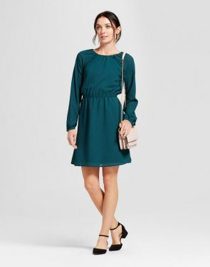 photo Ruffle Dress by A New Day, color Dark Green - Image 1