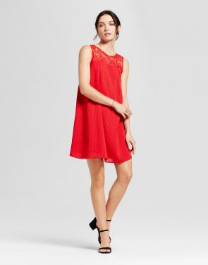 photo Shift Dress by A New Day, color Red - Image 1