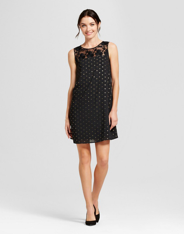 photo Foil Shift Dress by A New Day, color Black - Image 1