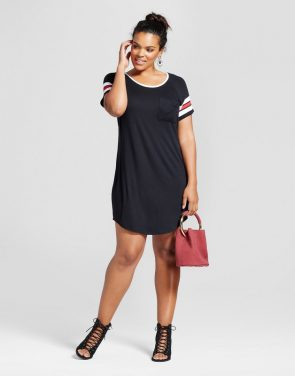 photo Plus Size Slouchy Football Dress by No Comment, color Black - Image 1