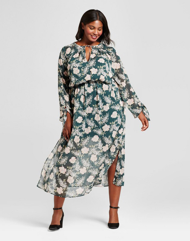 Plus Size Floral Maxi Dress by A New Day - Green