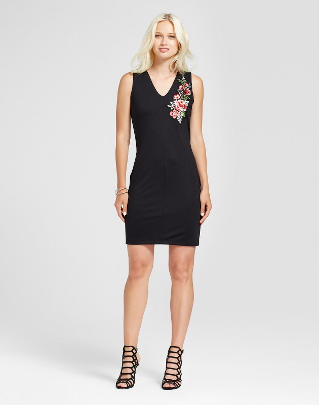photo Sleeveless Embroidered Dress by Alison Andrews, color Black - Image 1
