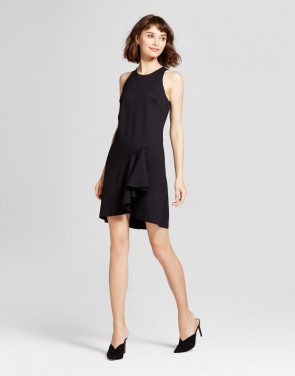 photo Asymmetrical Ruffle Dress by Mossimo, color Black - Image 1
