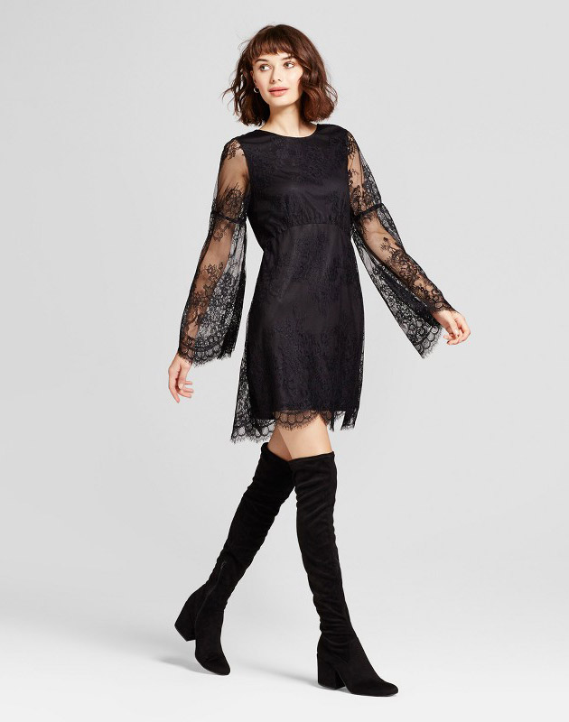 photo Long Sleeve Lace Dress by Alison Andrews, color Black - Image 1