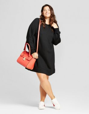 photo Plus Size Leisure Swing Dress by A New Day, color Black - Image 1