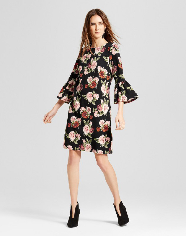 photo Floral Ruffle Sleeve Shift Dress by Alison Andrews, color Multi - Image 1
