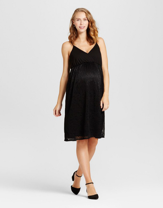 photo Maternity Lace Dress by Fynn & Rose, color Black - Image 1