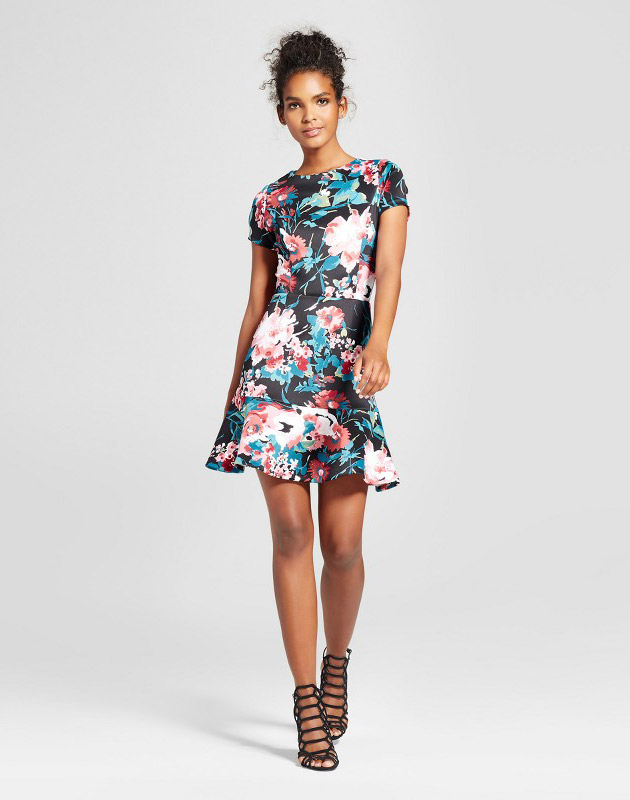 photo Floral A-Line Dress by Necessary Objects, color Multi - Image 1