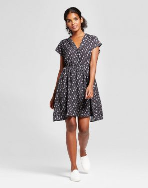 photo Printed Short Sleeve Dress by K by Kersh, color Multi - Image 1