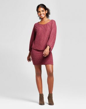 photo Lightweight Sweater Bodycon Dress by Vanity Room, color Red - Image 1