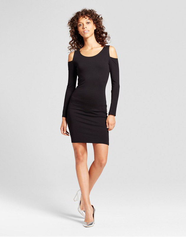 photo Cold Shoulder Bodycon Dress by Necessary Objects, color Black - Image 1