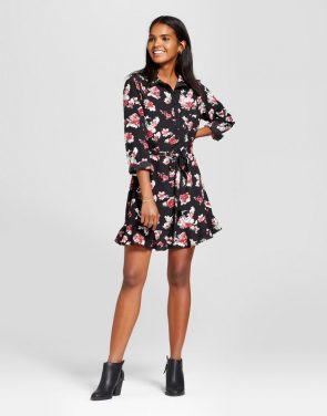 photo Floral Collared Tie Waist Dress by Eclair, color Multi - Image 1
