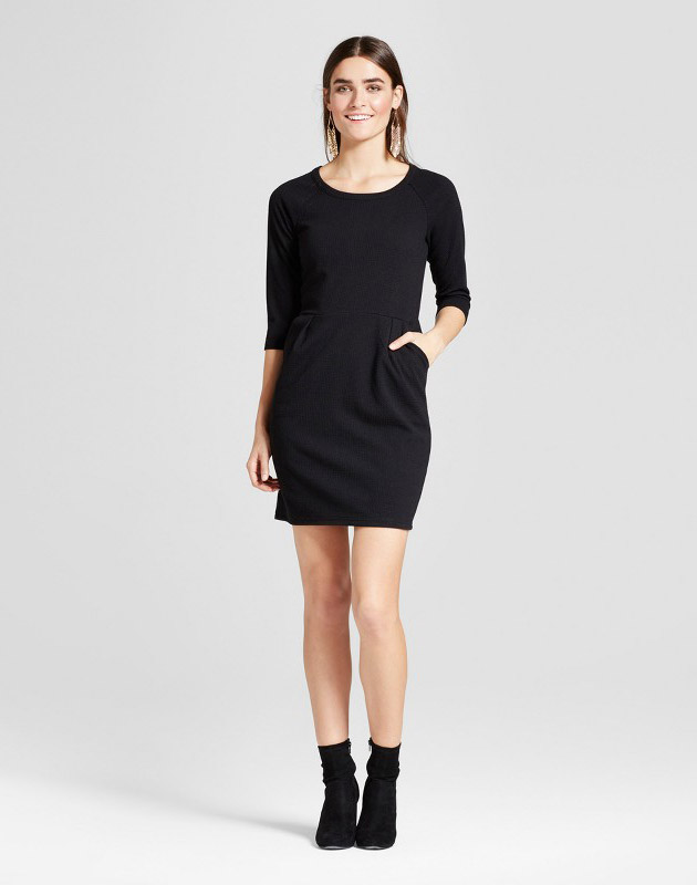 photo Scoop Neck Sheath Dress by Eclair, color Black - Image 1