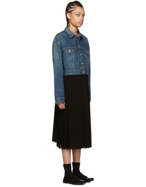 photo Indigo Denim Contrast Dress by Junya Watanabe - Image 2