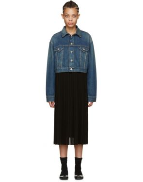 photo Indigo Denim Contrast Dress by Junya Watanabe - Image 1