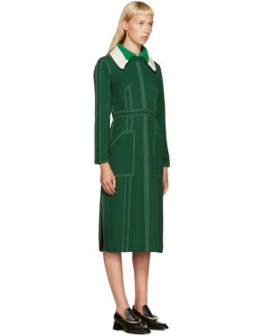 photo Green Topstitch Dress by Burberry - Image 2
