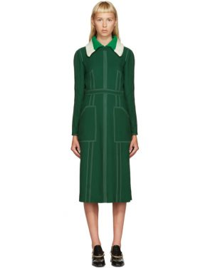 photo Green Topstitch Dress by Burberry - Image 1