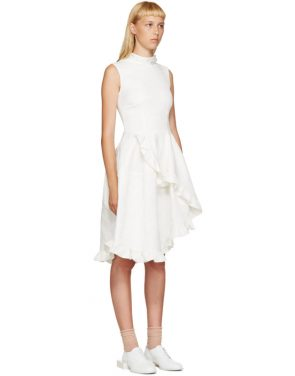 photo Ivory Crystal and Ruffles Dress by Simone Rocha - Image 2
