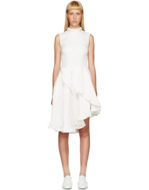photo Ivory Crystal and Ruffles Dress by Simone Rocha - Image 1
