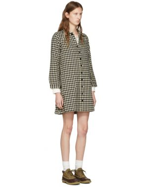 photo Black Check Impressionist Dress by Visvim - Image 2