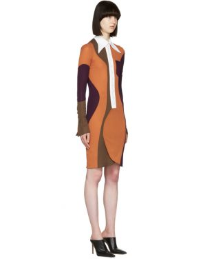 photo Multicolor Wide Collar Dress by Givenchy - Image 2