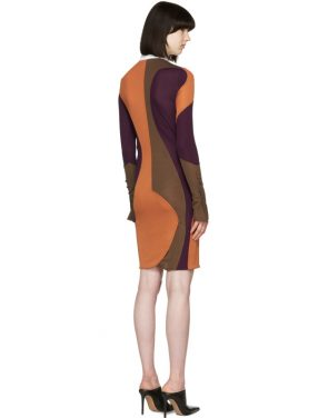 photo Multicolor Wide Collar Dress by Givenchy - Image 3