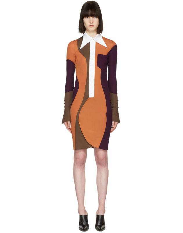 photo Multicolor Wide Collar Dress by Givenchy - Image 1