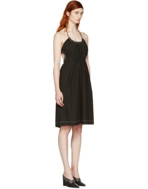 photo Black Gathered Cotton Dress by 3.1 Phillip Lim - Image 2