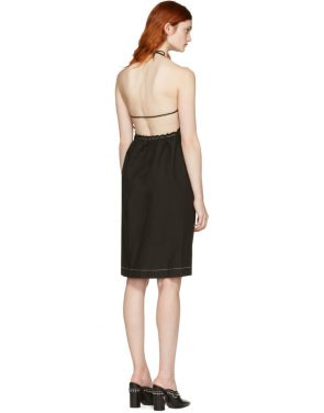 photo Black Gathered Cotton Dress by 3.1 Phillip Lim - Image 3