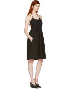 photo Black Gathered Cotton Dress by 3.1 Phillip Lim - Image 4