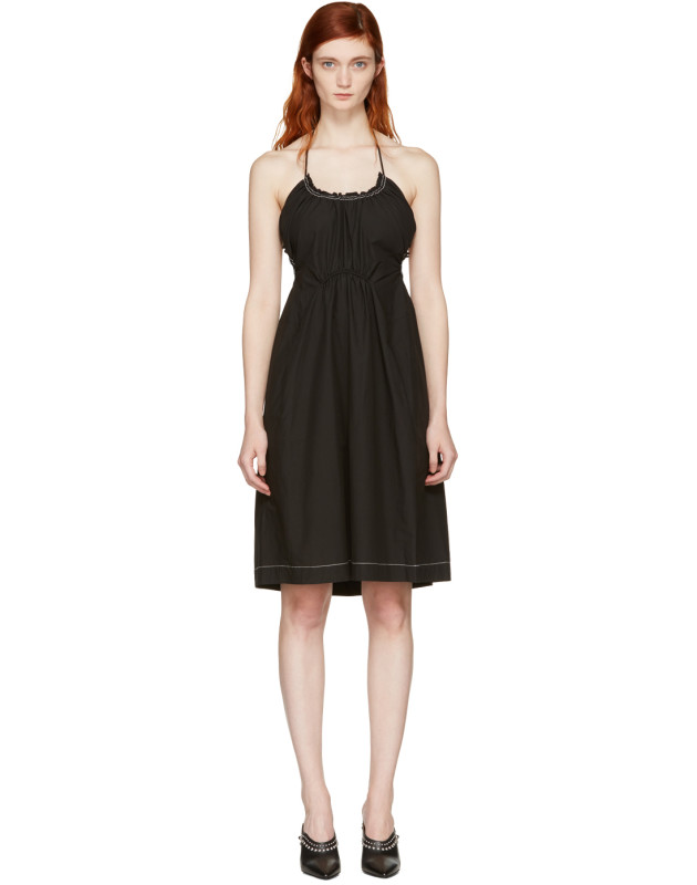 photo Black Gathered Cotton Dress by 3.1 Phillip Lim - Image 1