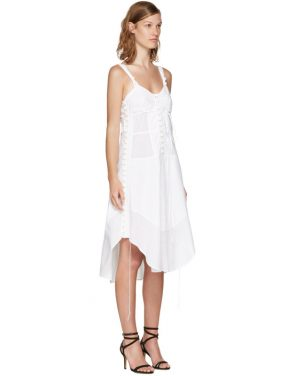 photo White Sleeveless Button Dress by Chloe - Image 2