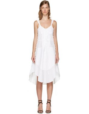 photo White Sleeveless Button Dress by Chloe - Image 1