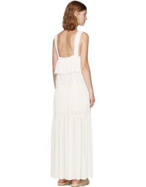photo Off-White Long Gauze Jersey Dress by See by Chloe - Image 3