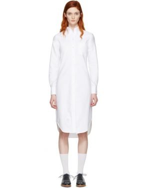 photo White Classic Shirt Dress by Thom Browne - Image 1