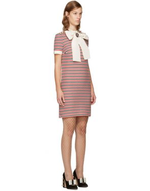 photo Tricolor Striped Bow Dress by Gucci - Image 2